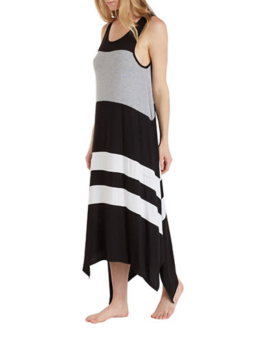 Dkny Colourblock Jersey Chemise-BLACK-Small
