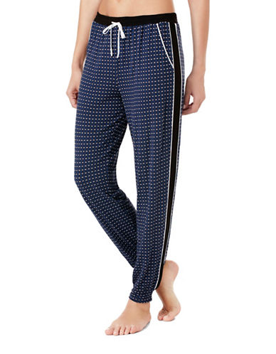 Dkny Dot Jogger Pants-BLUE-Medium