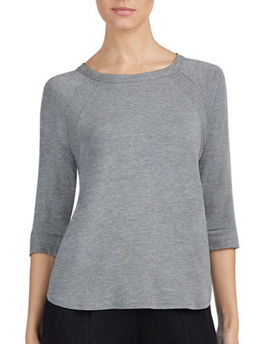 Dkny Jersey Pajama Top-GREY-Large