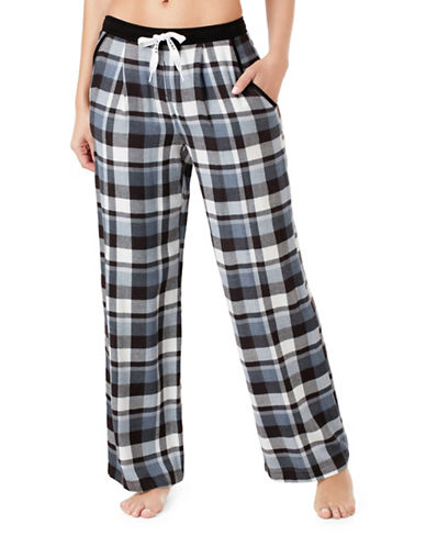 Dkny Flannel Pajama Pants-BLUE-X-Large