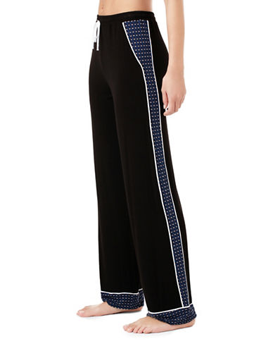 Dkny Colourblock Pajama Pants-BLACK-Small