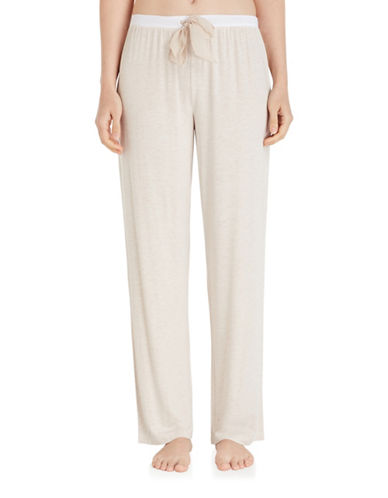 Dkny Jersey Pajama Pants-BEIGE-Medium