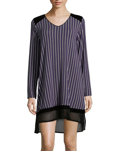 Dkny Velvet Panelled Sleepshirt-PURPLE-Small
