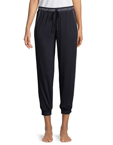 Dkny Mid-Rise Jogger Pants-NAVY-Small