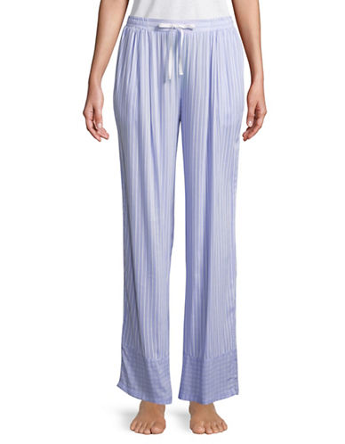 Dkny Stripe Pajama Pants-BLUE-Medium 89736435_BLUE_Medium