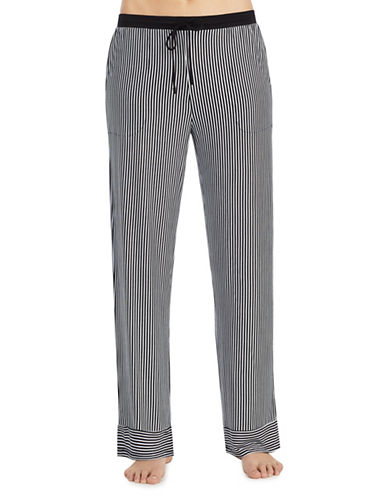 Dkny Striped Pajama Pants-BLACK-Small 90002621_BLACK_Small