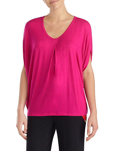 Donna Karan Dolman-Sleeve Top-PINK-Medium 89913928_PINK_Medium