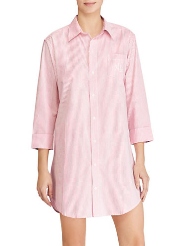 Lauren Ralph Lauren Sleep Shirt-PINK-Medium