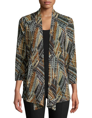 Kasper Suits Metallic Abstract Jacket-MULTI-Large