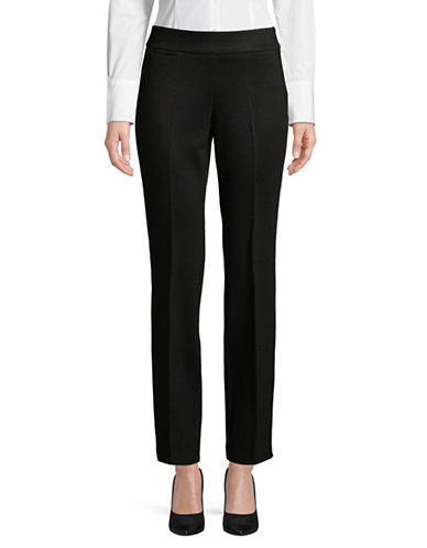 Kasper Suits Seamed Compression Pants-BLACK-6