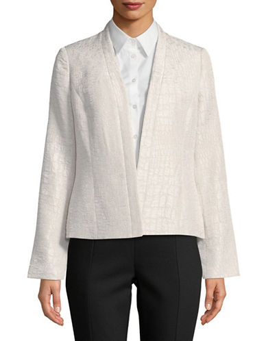 Kasper Suits Jacquard Kiss Front Jacket-NATURAL-6
