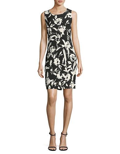 Kasper Suits Floral Sleeveless Crepe Dress 89879934