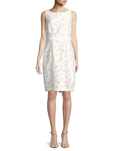 Kasper Suits Floral Burnout Dress 89880732