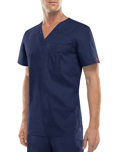 Dickies Antimicrobial One-Pocket V-Neck Top-NAVY-X-Large