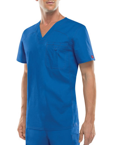Dickies Antimicrobial One-Pocket V-Neck Top-ROYAL-Small
