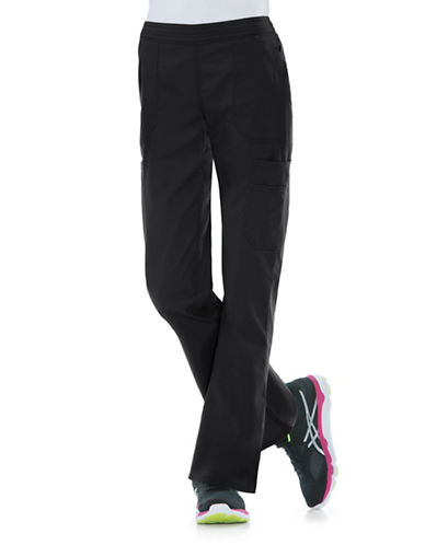 Dickies Antimicrobial Mid Rise Flare Leg Pants-BLACK-X-Large