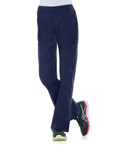 Dickies Antimicrobial Mid Rise Flare Leg Pants-NAVY-Medium