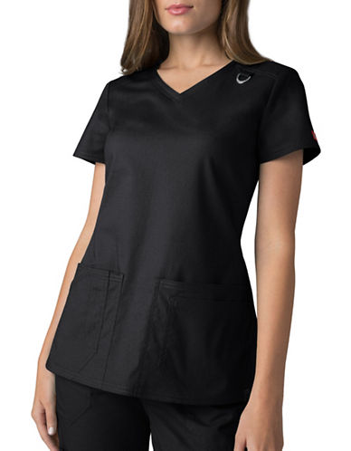Dickies Antimicrobial Four-Pocket V-Neck Top-BLACK-X-Small 89047161_BLACK_X-Small