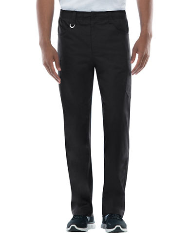 Dickies Antimicrobial Zip Fly Pull-On Pants-BLACK-X-Large