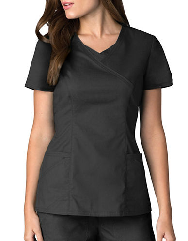 Dickies Antimicrobial Mock Wrap Top-PEWTER-X-Small