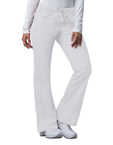 Dickies Antimicrobial Low Rise Straight Leg Drawstring Pants-WHITE-Large