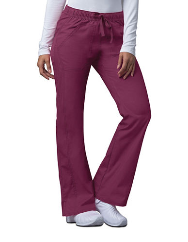 Dickies Antimicrobial Low Rise Straight Leg Drawstring Pants-WINE-Medium