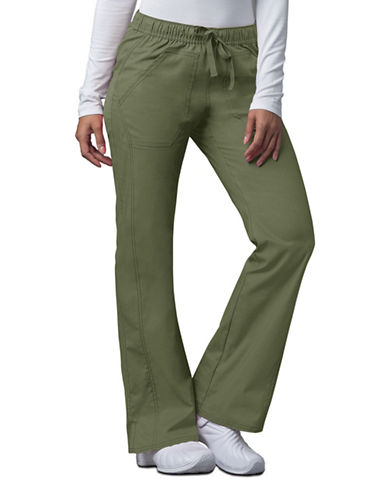 Dickies Antimicrobial Low Rise Straight Leg Drawstring Pants-OLIVE-Medium