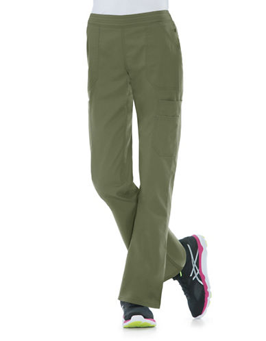 Dickies Antimicrobial Mid Rise Flare Leg Pants-OLIVE-Large
