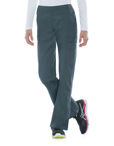 Dickies Antimicrobial Mid Rise Flare Leg Pants-PEWTER-Medium