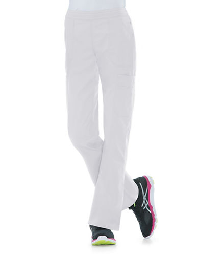 Dickies Antimicrobial Mid Rise Flare Leg Pants-WHITE-X-Small