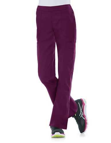 Dickies Antimicrobial Mid Rise Flare Leg Pants-WINE-X-Large