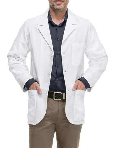 Cherokee Antimicrobial with Fluid Barrier 31-Inch Consultation Lab Coat-WHITE-XX-Large