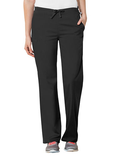 Cherokee Natural-Rise Drawstring Pants-BLACK-Small
