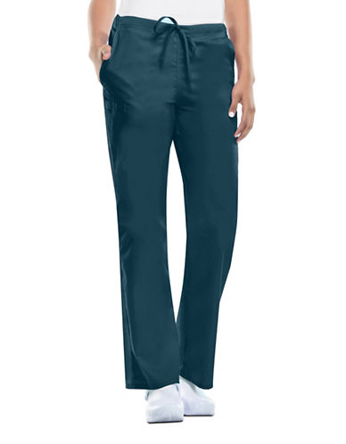 Cherokee Natural-Rise Drawstring Pants-CARRIBEAN BLUE-X-Large