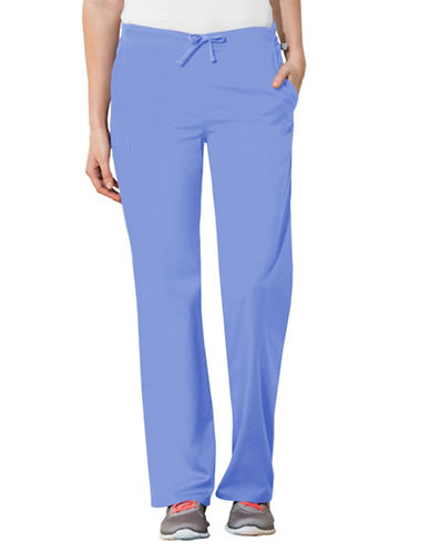 Cherokee Natural-Rise Drawstring Pants-CIEL BLUE-Large