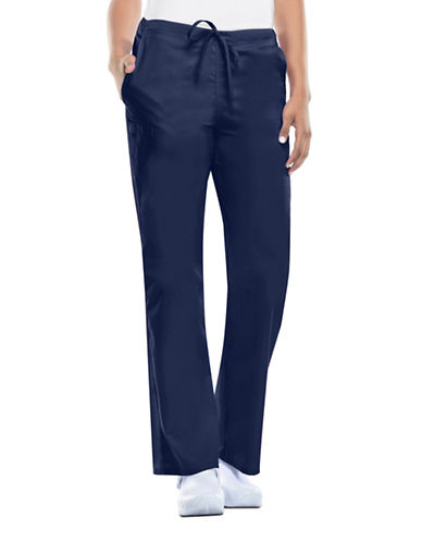 Cherokee Natural-Rise Drawstring Pants-NAVY-Large