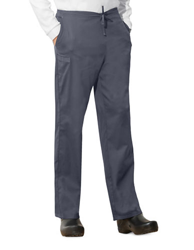 Cherokee Natural-Rise Drawstring Pants-GREY-X-Large