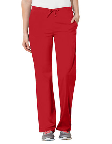 Cherokee Natural-Rise Drawstring Pants-RED-X-Small