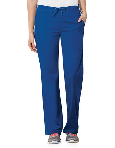 Cherokee Natural-Rise Drawstring Pants-BLUE-Large