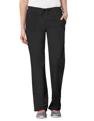 Cherokee Natural-Rise Regular Fit Drawstring Pants-BLACK-Small