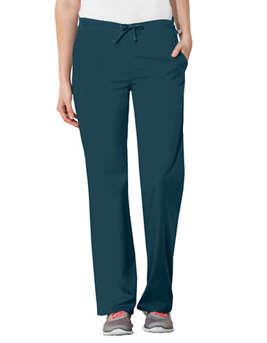 Cherokee Natural-Rise Regular Fit Drawstring Pants-CARRIBEAN BLUE-Medium
