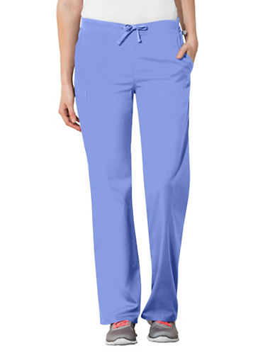 Cherokee Natural-Rise Regular Fit Drawstring Pants-CIEL BLUE-Large