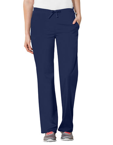 Cherokee Natural-Rise Regular Fit Drawstring Pants-NAVY-Large