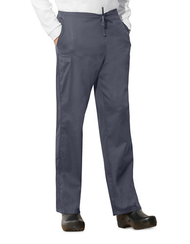 Cherokee Natural-Rise Regular Fit Drawstring Pants-GREY-Medium