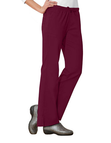Cherokee Moderate Flare Leg Pants-WINE RED-X-Large