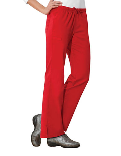 Cherokee Moderate Flare Leg Pants-RED-XX-Small