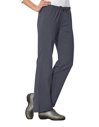 Cherokee Moderate Flare Leg Pants-GREY-X-Small