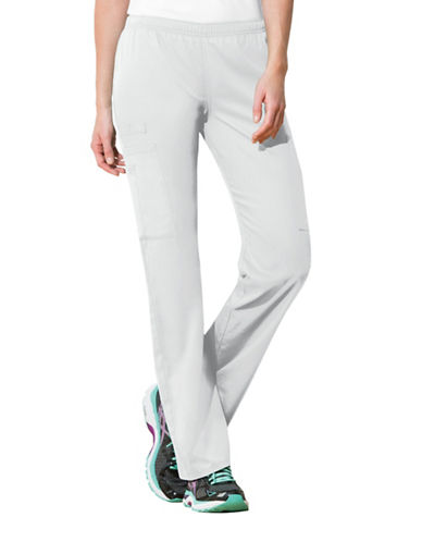 Cherokee Mid-Rise Straight Leg Pants-WHITE-X-Large