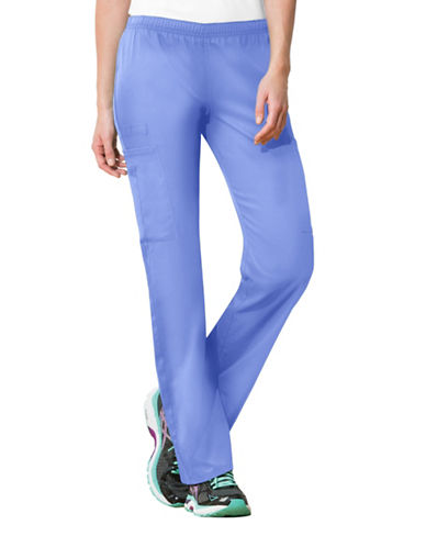 Cherokee Mid-Rise Straight Leg Pants-CIEL BLUE-Medium