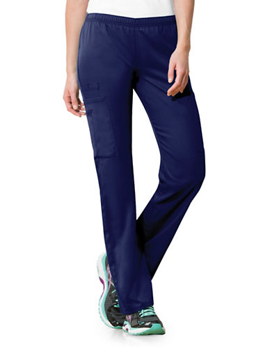 Cherokee Mid-Rise Straight Leg Pants-NAVY BLUE-XX-Large